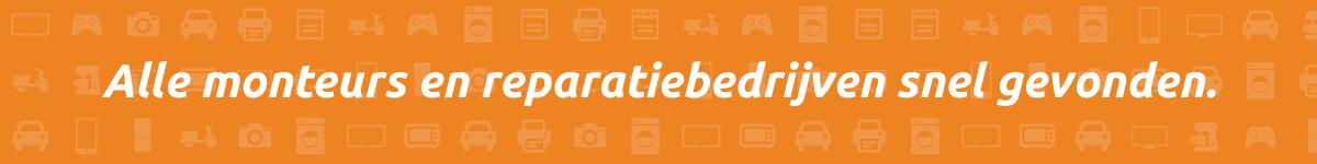 tablet reparatie, auto reparatie, witgoed reparatie, vind het via Monteurgids.nl